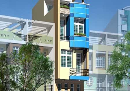 Mẫu thiết kế nhà phố 3x20m