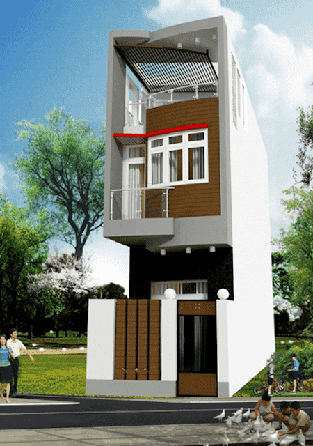mau thiet ke nha pho 3 5x15m dep 4 - Mẫu thiết kế nhà phố 3x18m