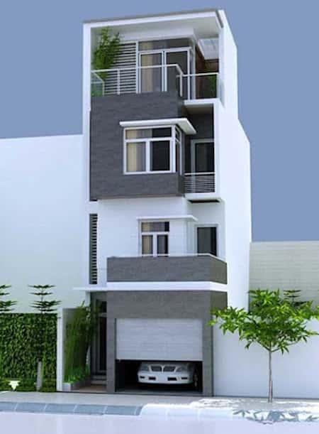 mau thiet ke nha pho 3 5x15m dep - Thiết kế nhà phố đẹp