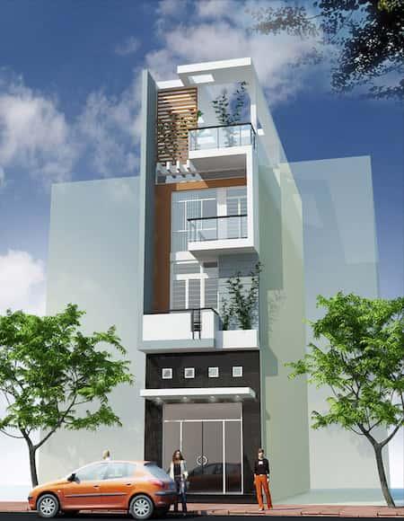 mau thiet ke nha pho 3 5x15m - Mẫu thiết kế nhà phố 3x18m