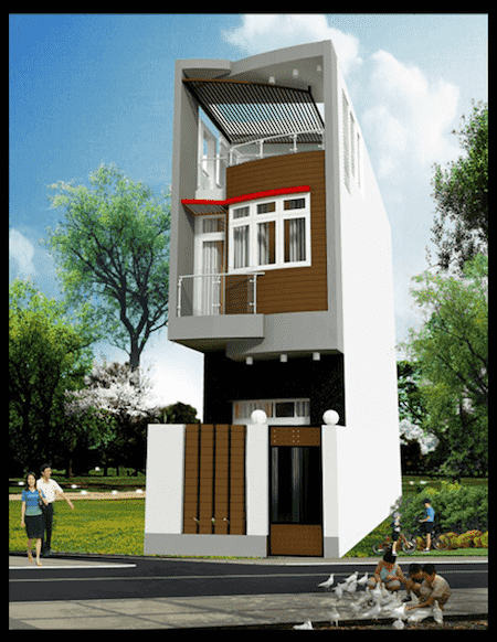 mau thiet ke nha pho mat tien 3 5m 1 - Mẫu thiết kế nhà phố mặt tiền 3.5m