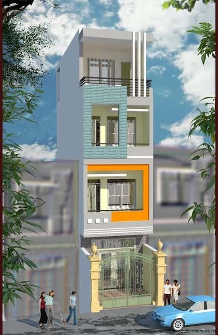 mau thiet ke nha pho mat tien 3 5m 3 - Mẫu thiết kế nhà phố mặt tiền 3.5m