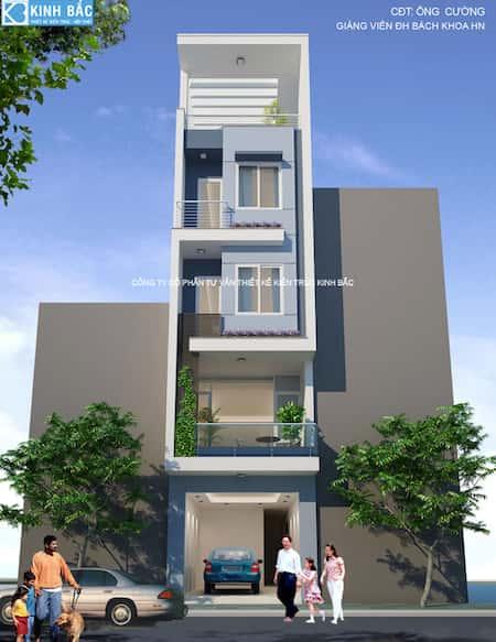 Mẫu thiết kế nhà phố mặt tiền 3.5m