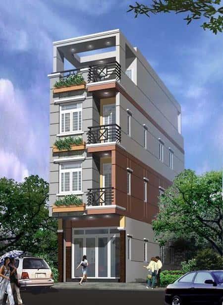 mau thiet ke nha pho mat tien 3 5m f - Mẫu thiết kế nhà phố mặt tiền 3.5m