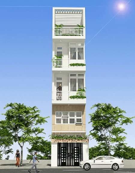 mau thiet ke nha pho mat tien 3 5mrt - Mẫu thiết kế nhà phố mặt tiền 3.5m
