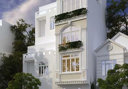 Thiết kế nhà mặt tiền hẹp 3,3 m