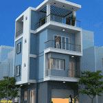 mau thiet ke nha pho mat tien 4 5m dep 150x150 - Thiết kế nhà đẹp ở tại Hà Nội