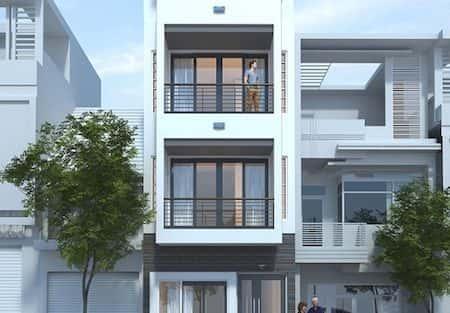 Mẫu thiết kế nhà phố mặt tiền 4.5m