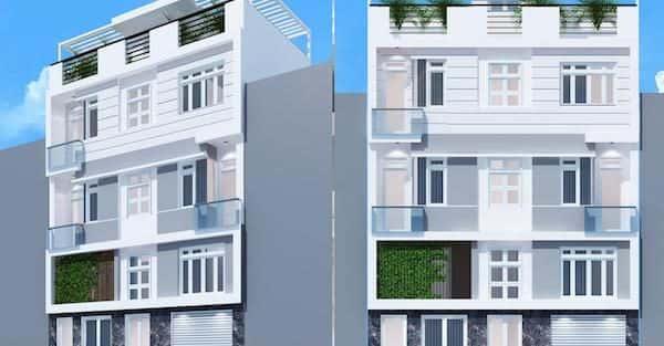 Mẫu thiết kế nhà phố mặt tiền 9m