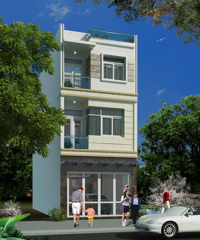nhà 4x25m ms003 1 - Thiết kế nhà Đà Nẵng