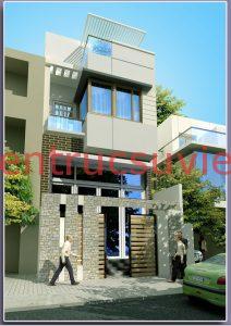 nhà phố 40m2 2tang tum 212x300 - nhà 2 tầng 1 tum