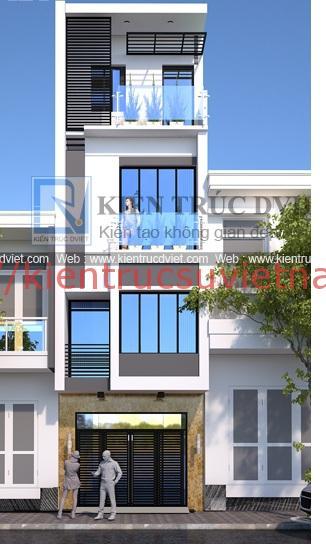 nhà phố 45m2 ms002 4 tang - Mẫu thiết kế nhà 45m2