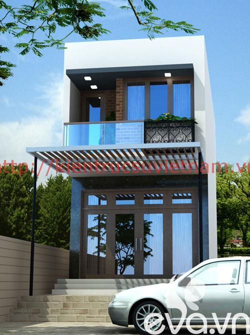 nhà phố 45m2 ms002 phoicanh - Mẫu thiết kế nhà 45m2