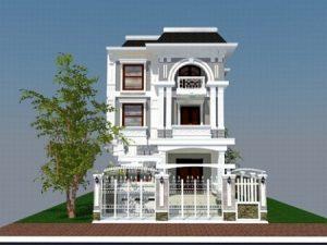 nhà phố 6x25m ms001 300x225 - Mẫu thiết kế nhà phố 6x25m