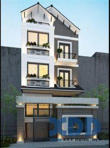 nhà phố 6x25m ms001d 223x300 - Mẫu thiết kế nhà phố 6x25m
