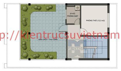 nhà phố 70m2 4 tang mat bang tang 4 - Mẫu thiết kế nhà 70m2