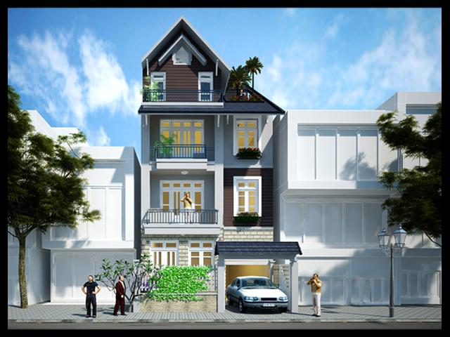 nhà phố 7x18m dep 001 3 tang dep - Mẫu thiết kế nhà phố 7x18m
