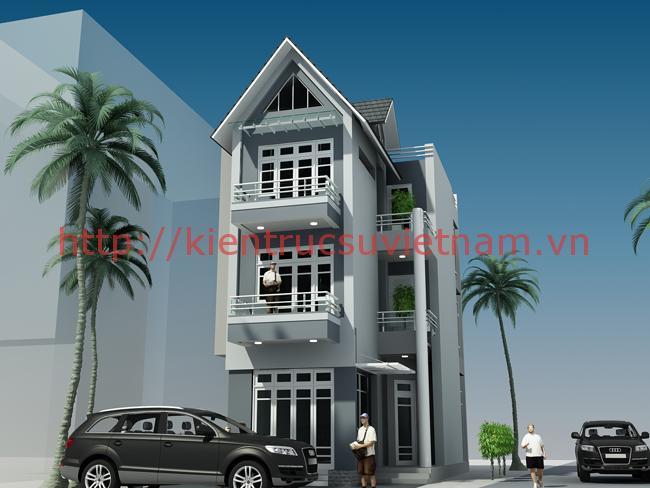 nhà phố 80m2 3 tang - Thiết kế nhà 3 tầng đẹp