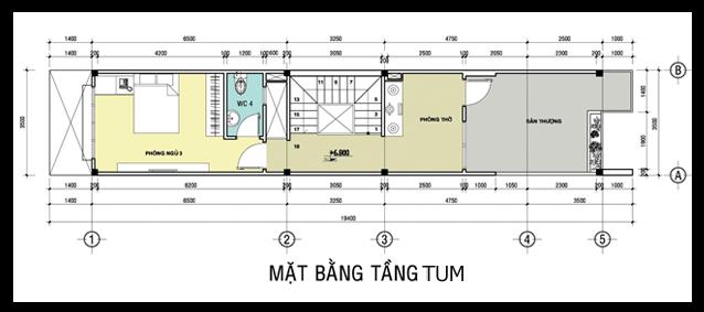 nhâ pho 35x19m t1 - Mẫu thiết kế nhà phố 5x19m