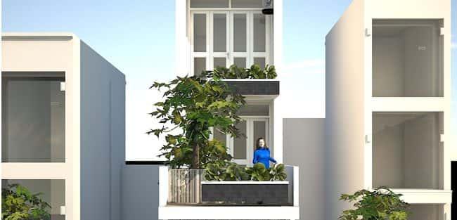 Thiết kế nhà 4 tầng trên mảnh đất hơn 100 m2