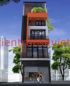 nha 5 tang 30m2 1 245x300 - Bộ sưu tập những mẫu thiết kế nhà đẹp diện tích nhỏ 30m2