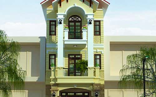 Thiết kế nhà 3 tầng trên đất rộng 68 m2