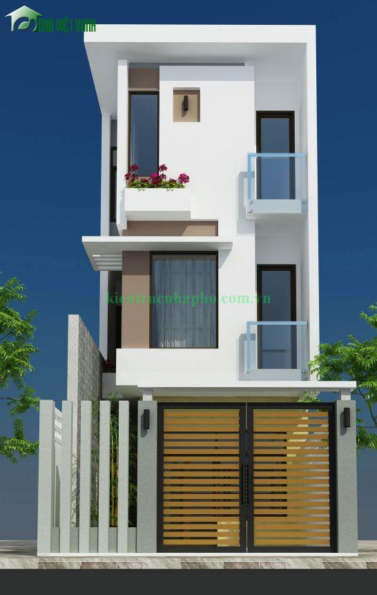 thiet ke nha dep nhà phố 5x18m ms001 - Mẫu thiết kế nhà phố 5x18m
