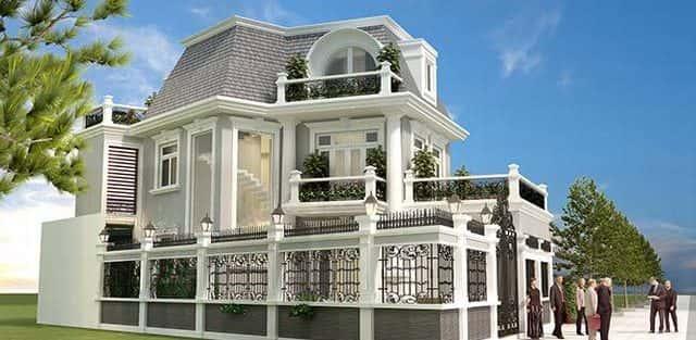 Tư vấn thiết kế Biệt thự 2 tầng kiến trúc Pháp