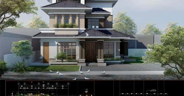 Tư vấn thiết kế biệt thự 3 tầng hiện đại diện tích 9,7×19,5m