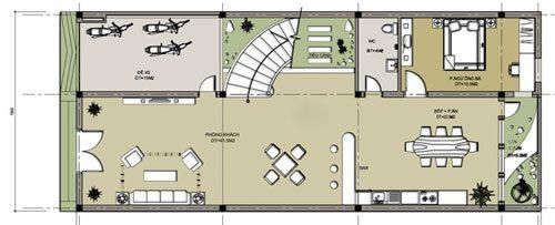 Tư vấn các mẫu thiết kế nhà 4 tầng gồm 5 phòng ngủ 7,5 x 17,5 m