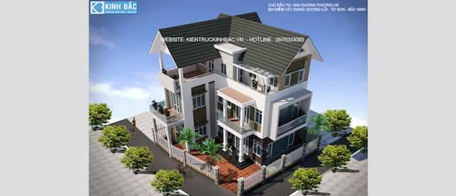 biet thu 3 tang chu l dep ms001 - Thiết kế biệt thự 3 tầng chữ L đẹp