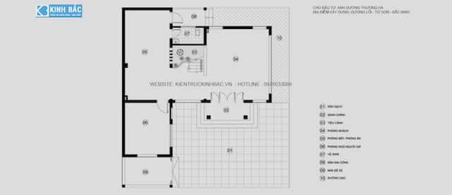 biet thu 3 tang chu l dep ms002 - Thiết kế biệt thự 3 tầng chữ L đẹp