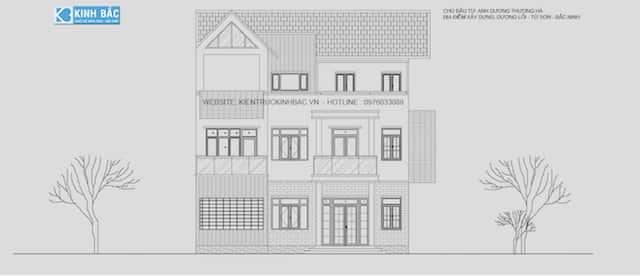 biet thu 3 tang chu l dep ms003 - Thiết kế biệt thự 3 tầng chữ L đẹp