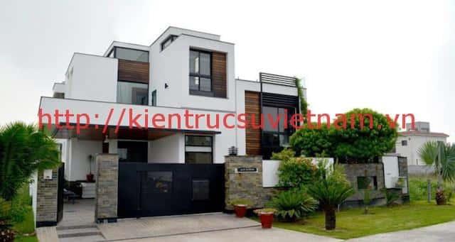 biet thu 3 tang hien dai gangui thien nhien 001 - Biệt thự 3 tầng với phong cách hiện đại gần gũi với thiên nhiên