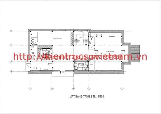 Thiết kế biệt thự 3 tầng bán cổ điển đẹp