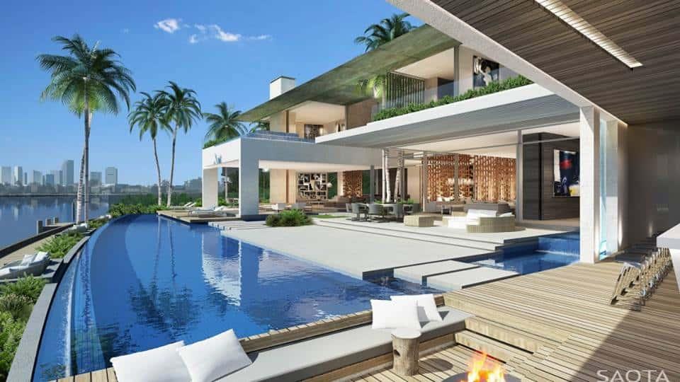 biet thu hien dai co be boi ms001 - Thiết kế biệt thự có hồ bơi đẹp và hiện đại