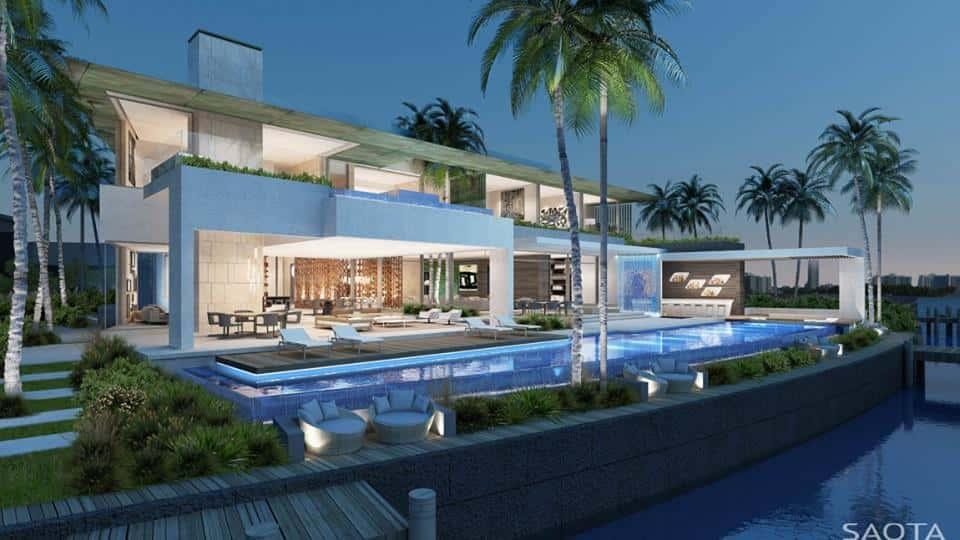 biet thu hien dai co be boi ms002 - Thiết kế biệt thự có hồ bơi đẹp và hiện đại