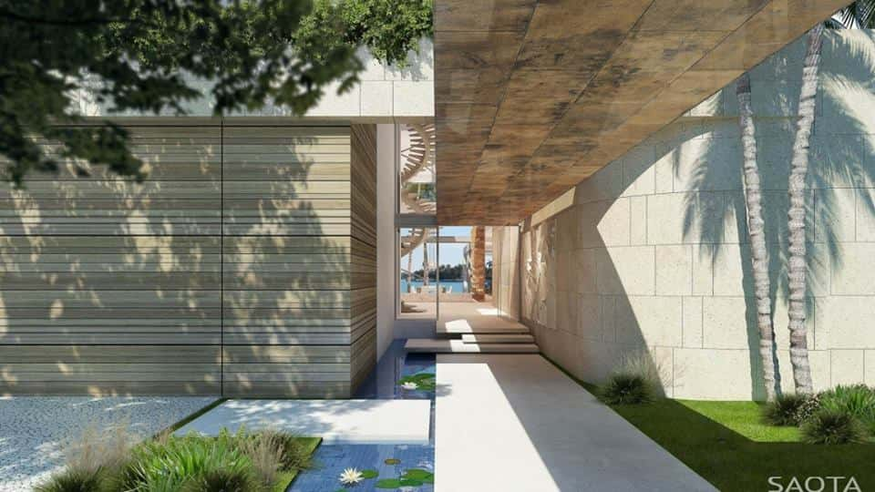 biet thu hien dai co be boi ms004 - Thiết kế biệt thự có hồ bơi đẹp và hiện đại