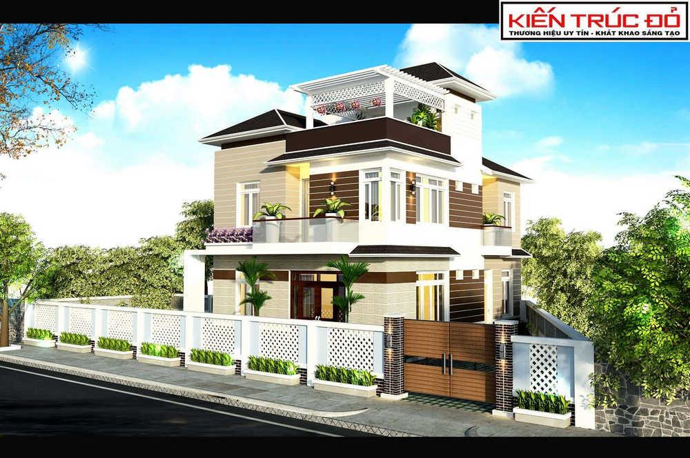 biet thu hien dai da nang ms0021 - 30 Mẫu thiết kế biệt thự với kiến trúc hiện đại đẹp
