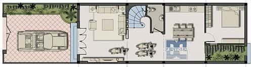 Tư vấn thiết kế Nhà 2 tầng, mặt tiền 5,5 m sang trọng
