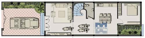 hoan1 321189 1388975088 - Tư vấn thiết kế Nhà 2 tầng, mặt tiền 5,5 m sang trọng