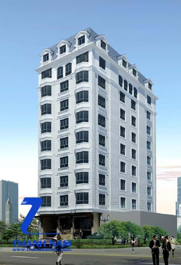 ksdep - Thiết kế khách sạn 8 tầng đẹp