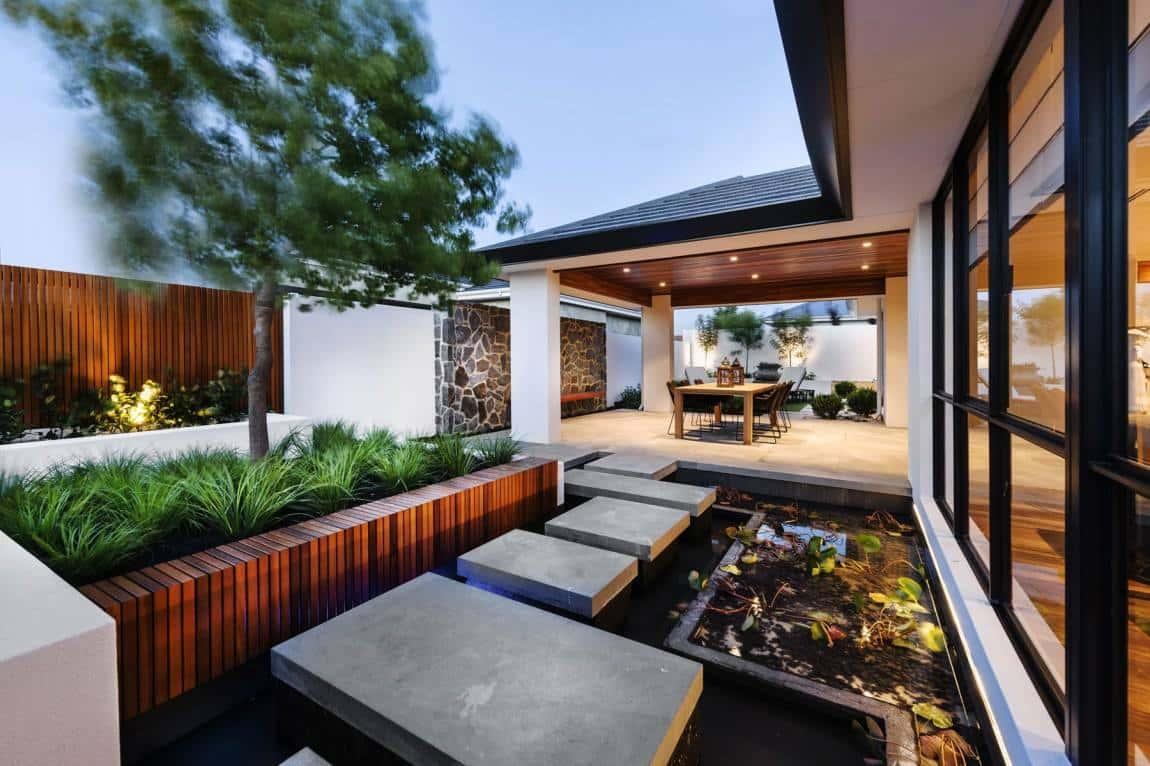 mau biet thu vuon 1 tang dep ms0013 - Tư vấn  thiết kế biệt thự vườn 1 tầng 3 phòng ngủ đẹp hiện đại