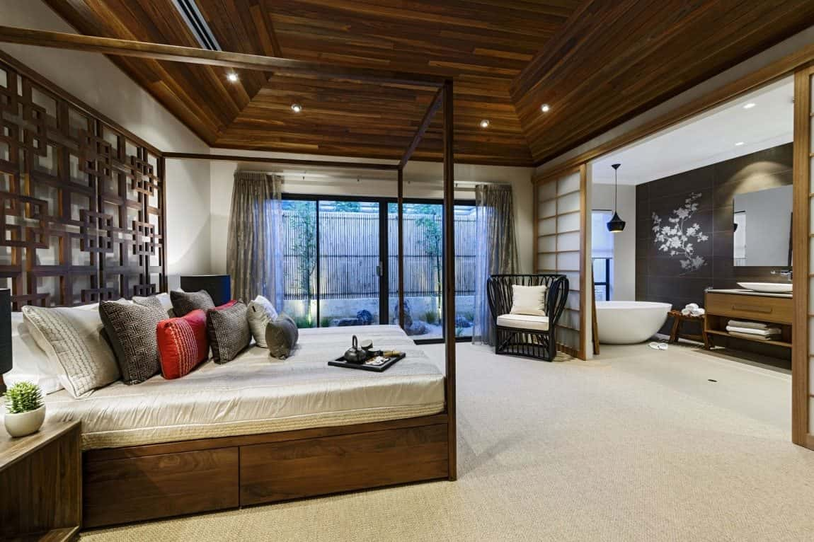 mau biet thu vuon 1 tang dep ms009 - Tư vấn  thiết kế biệt thự vườn 1 tầng 3 phòng ngủ đẹp hiện đại