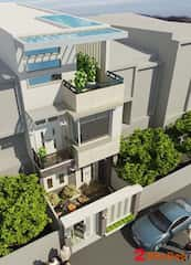 mau nha 80m2 hep dai 1 - Tư vấn hiết kế Nhà chia lô 80 m2 hẹp và dài đẹp nhất