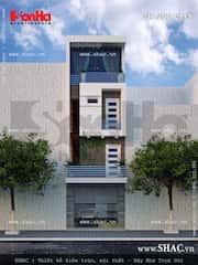 mau nha 80m2 hep dai 3 - Tư vấn hiết kế Nhà chia lô 80 m2 hẹp và dài đẹp nhất