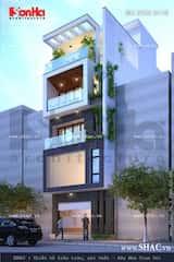 mau nha 80m2 hep dai 4 - Tư vấn hiết kế Nhà chia lô 80 m2 hẹp và dài đẹp nhất