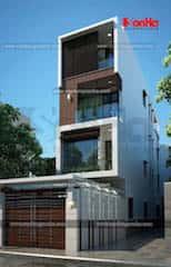 mau nha 80m2 hep dai 5 - Tư vấn hiết kế Nhà chia lô 80 m2 hẹp và dài đẹp nhất