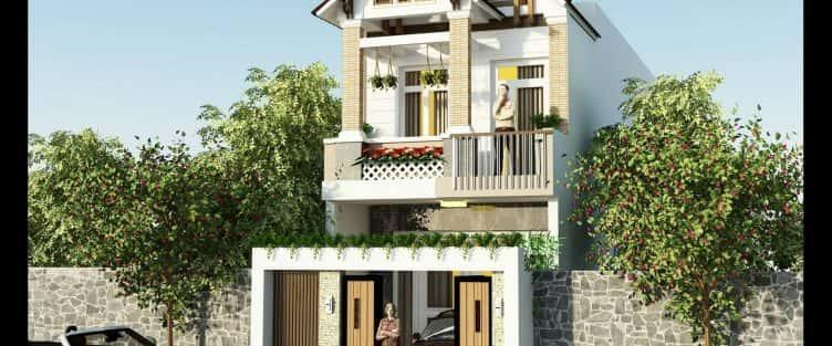Thiết kế nhà mặt phố 2 tầng quận Ngũ Hành Sơn Đà Nẵng