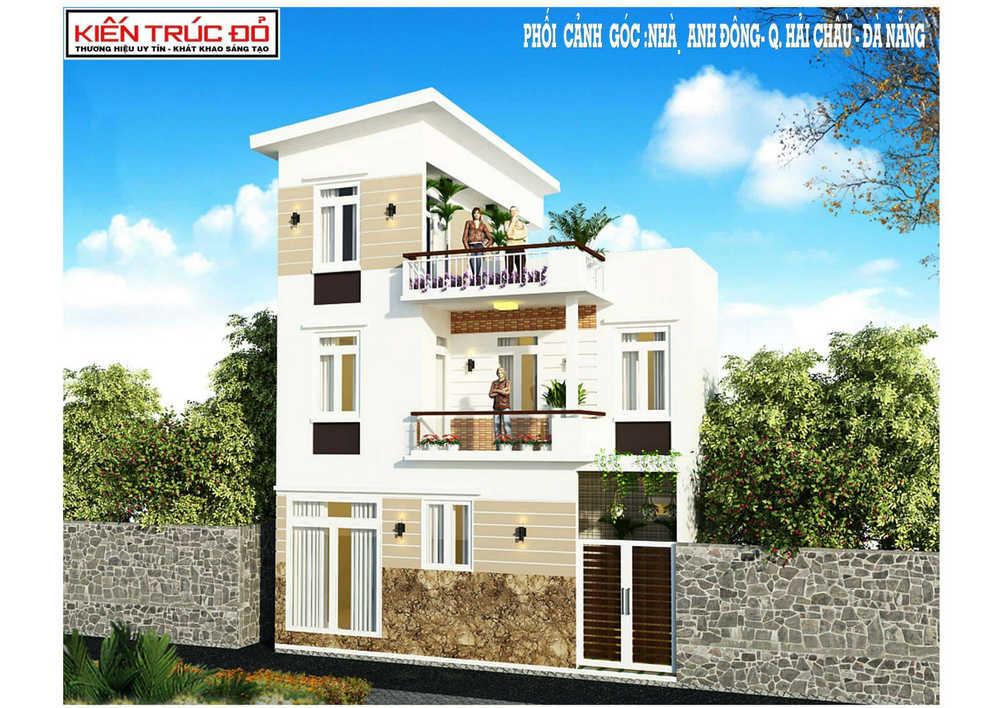 Mẫu nhà phố đẹp 2,5 tầng Hải Châu Đà Nẵng